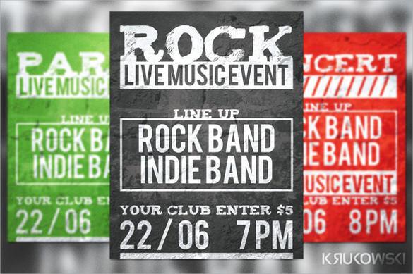 live music event flyer download psd format download