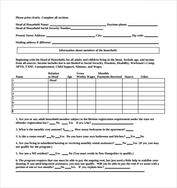 Rental Assistance Form Msa Housing Assistance Eligibility – Rental Assistance Form
