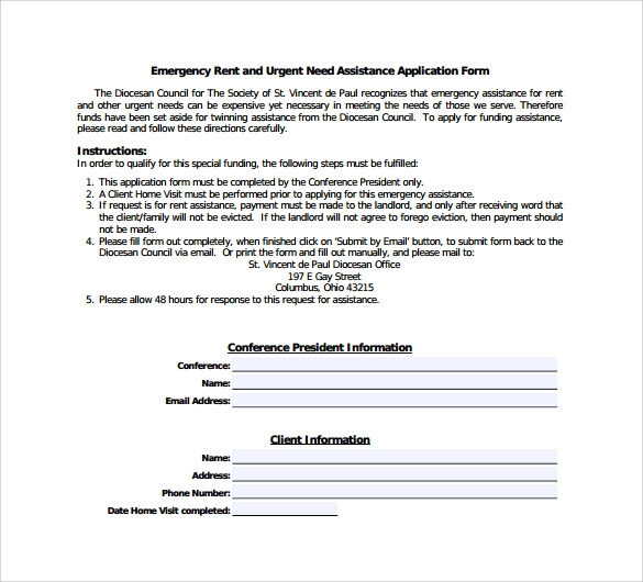 Sample Rental Assistance Form 10 Download Free Documents in PDF – Rental Assistance Form