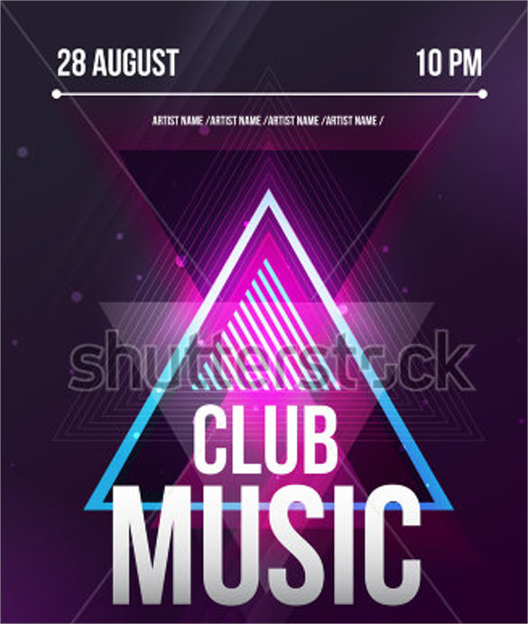 26  music flyer templates