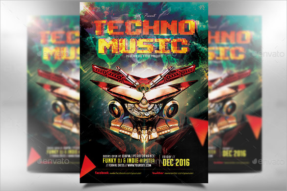 attractive music flyer template download