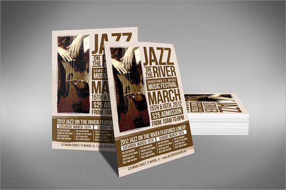 awesome music festival flyer template