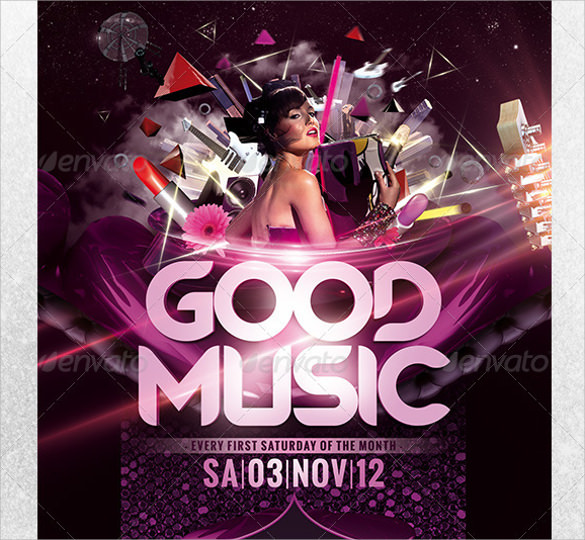 good music flyer template download
