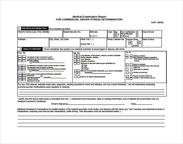 cdl medical certificate form