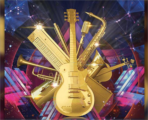 golden music flyer template download