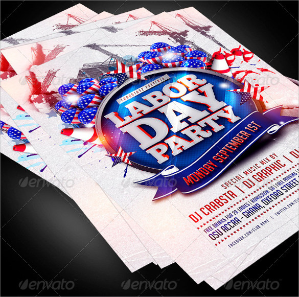 Labour Day Flyer Template   Download In Vector Eps Psd