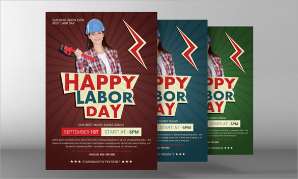 labour day flyer template free download