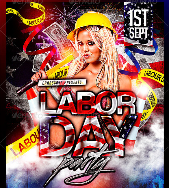 Attractive Labor Day Party Flyer Template