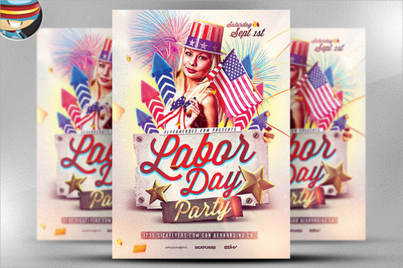 labor day psd flyer template download