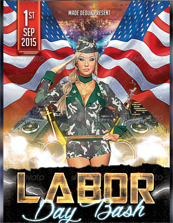 spectacular labor day flyer template