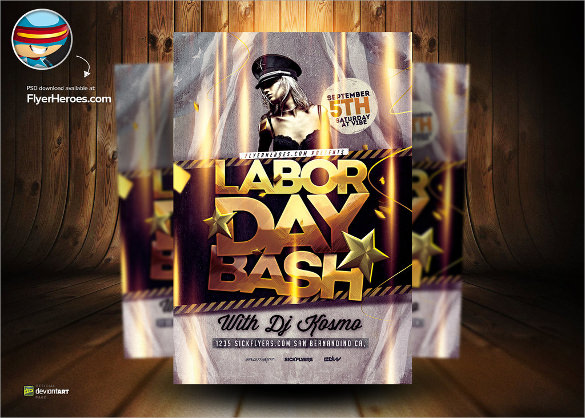 wondrous labour day flyer template download