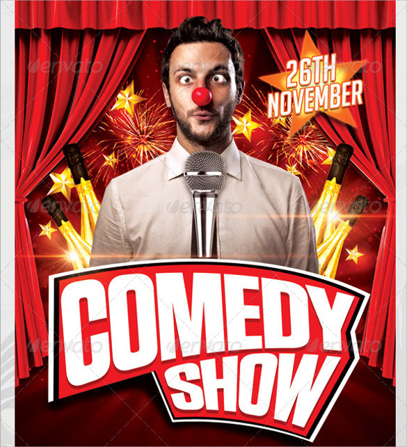 Comedy Show Flyer Template   Download In Vector Eps Psd