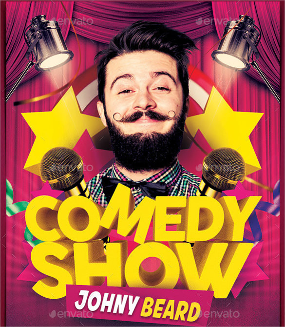 comedy show flyer template free download