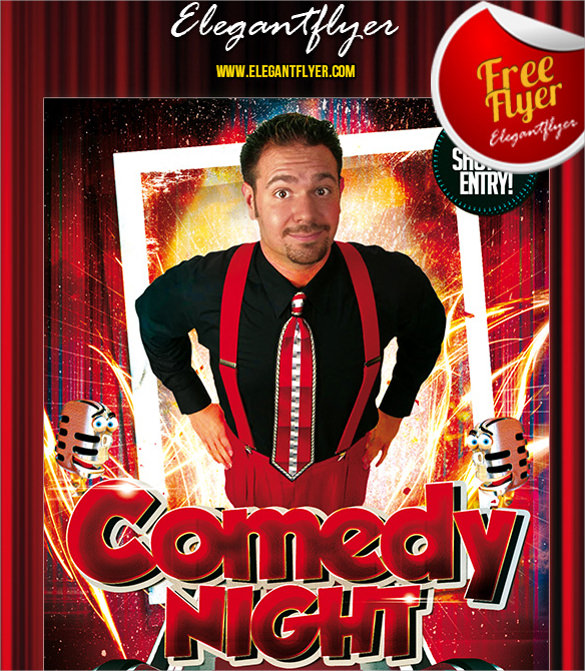 free 10  comedy show flyer templates in eps