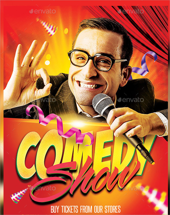 Comedy Show Flyer Template  10