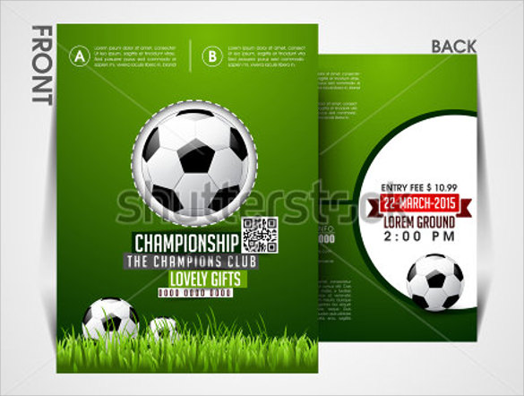 amazing soccer flyer template download