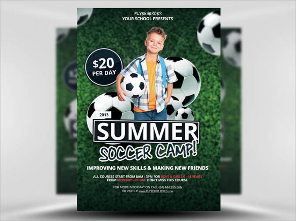 Soccer Flyer Template | Soccer Flyer Template 20 Download In Vector Eps Psd