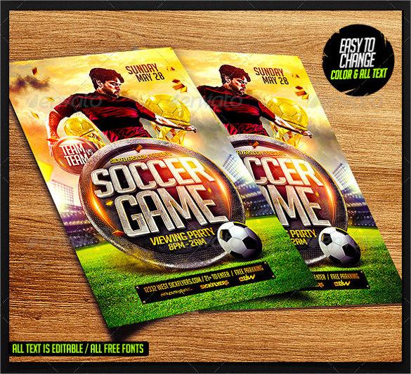 soccer flyer template psd format download