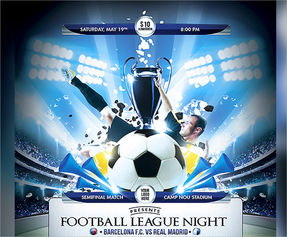 soccer league night flyer template