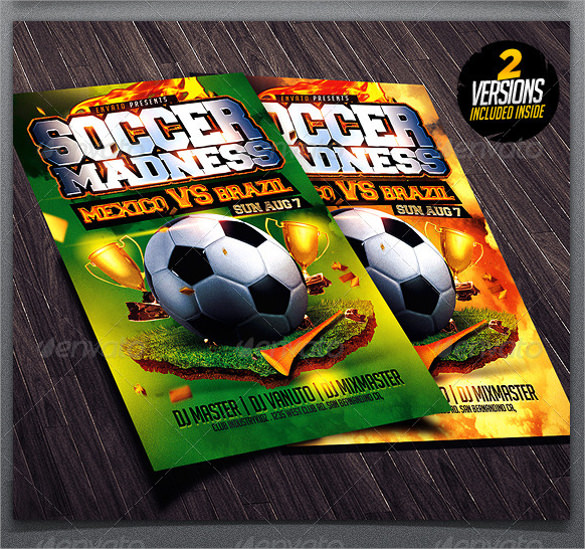 Soccer Flyer Template 18 Download in Vector EPS PSD – Soccer Flyer Template