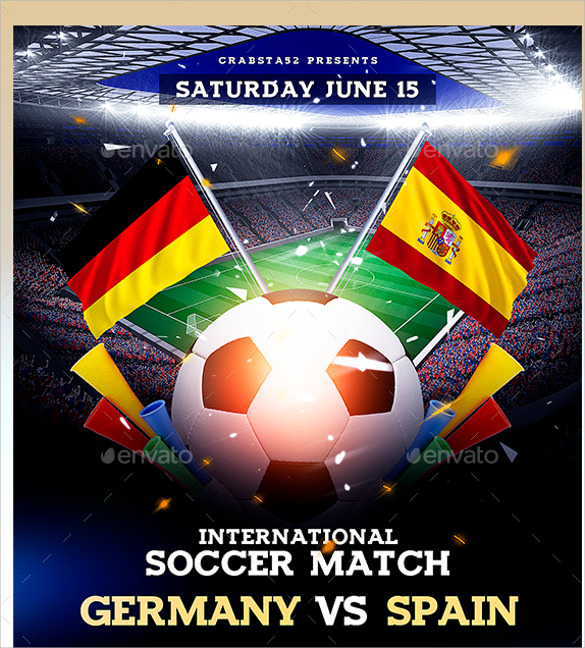soccer match flyer template download