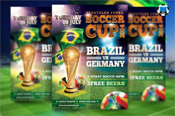 wonderful soccer flyer template download
