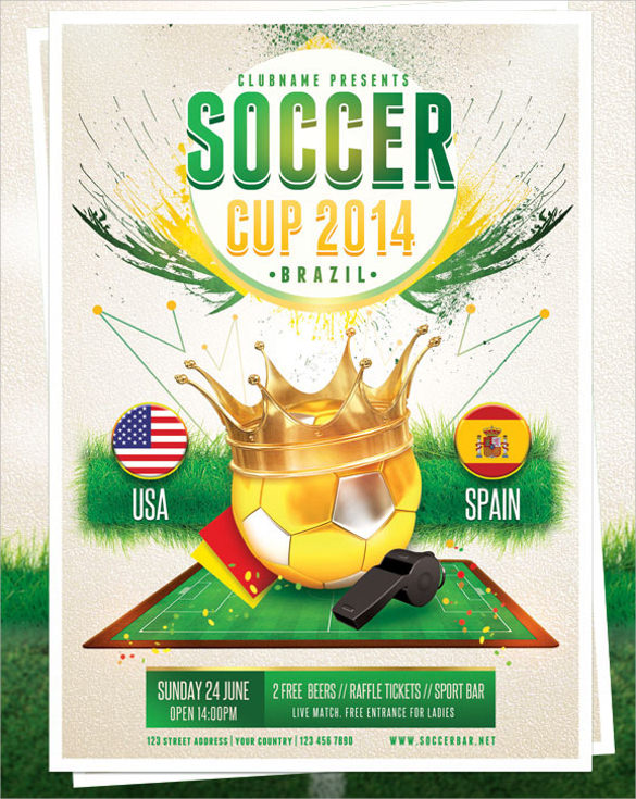 Soccer Flyer Template   Download In Vector Eps  Psd