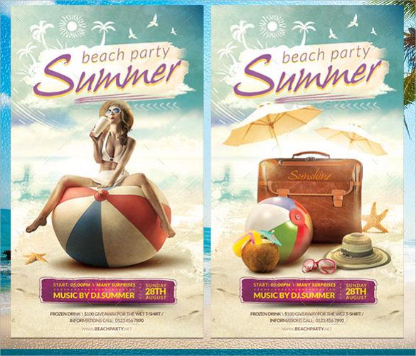 fantastic summer flyer templates download