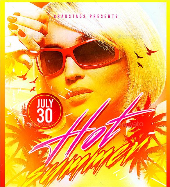 hot summer flyer template download