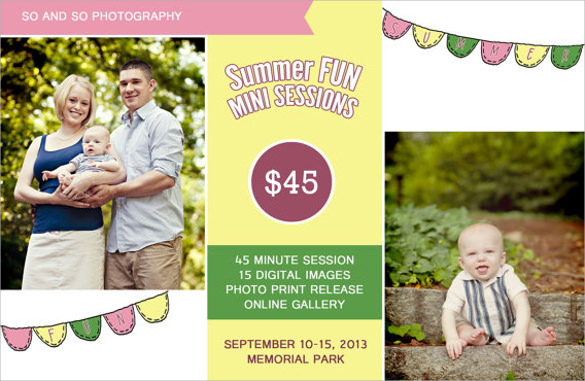 summer mini session template flyer