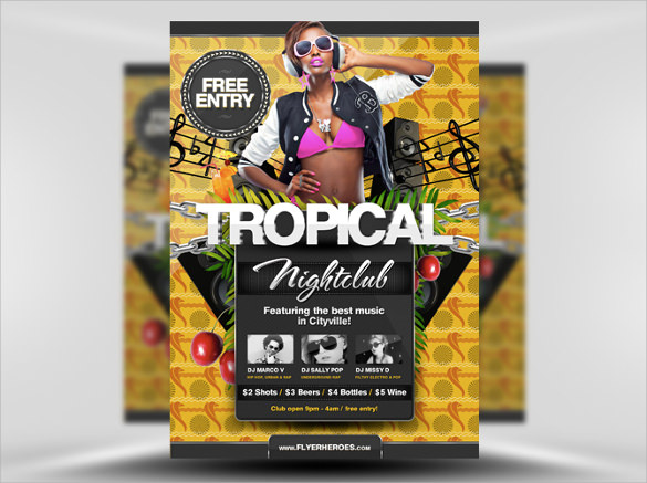 free tropical summer flyer template