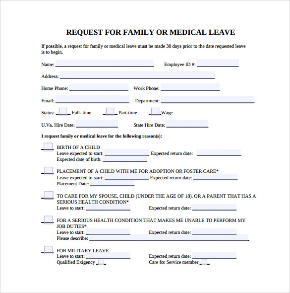 simple medical leave form
