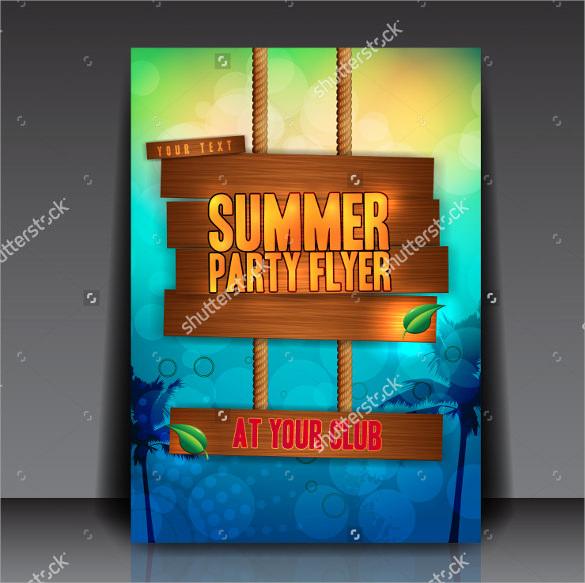 attractive summer flyer templates download