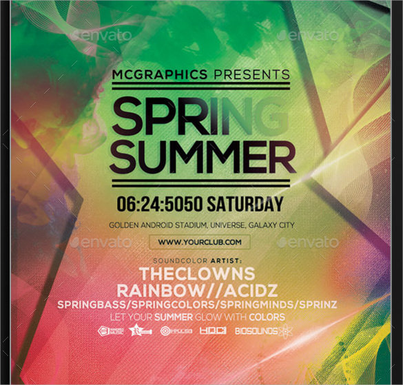 summer flyer templates psd download