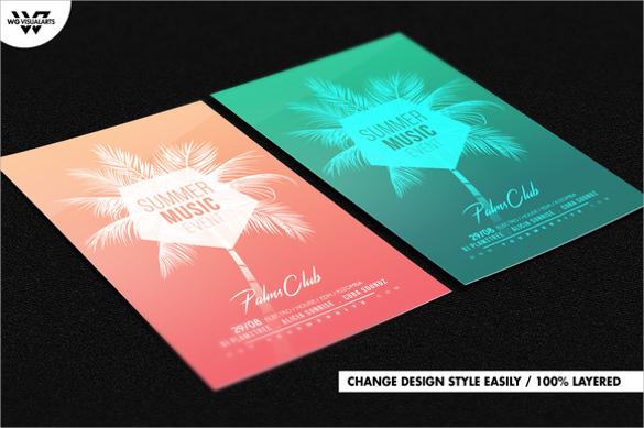 marvelous summer flyer templates download