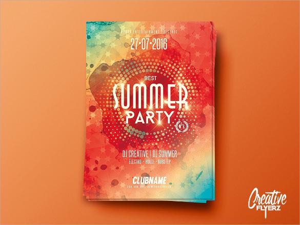 good summer flyer templates download