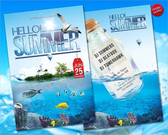fabulous summer flyer templates download