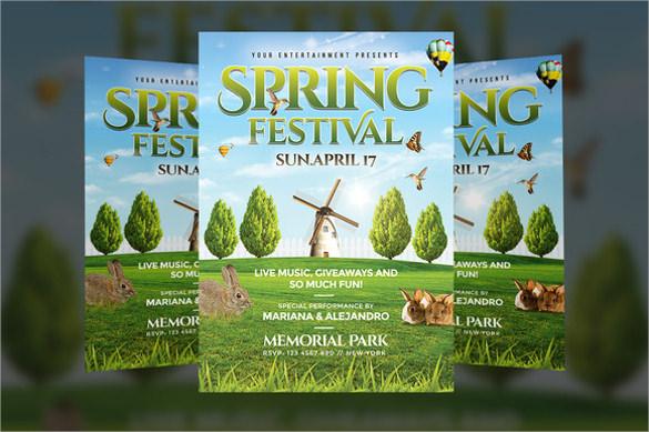 spring flyer template download