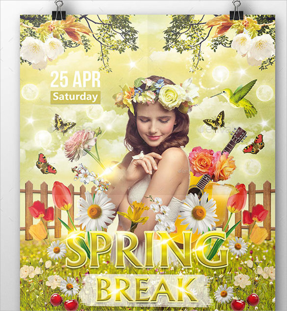 attractive spring flyer template download