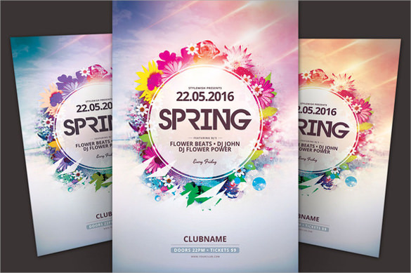 beautiful spring flyer template download
