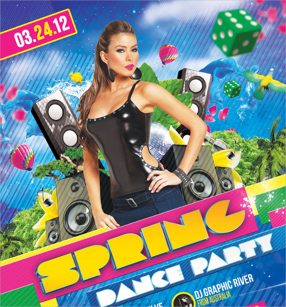 creative spring flyer template download