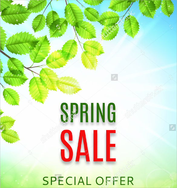 Spring Flyer Template   Download In Vector Eps Psd