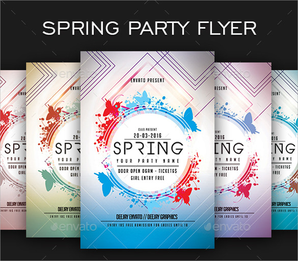awesome spring flyer template download