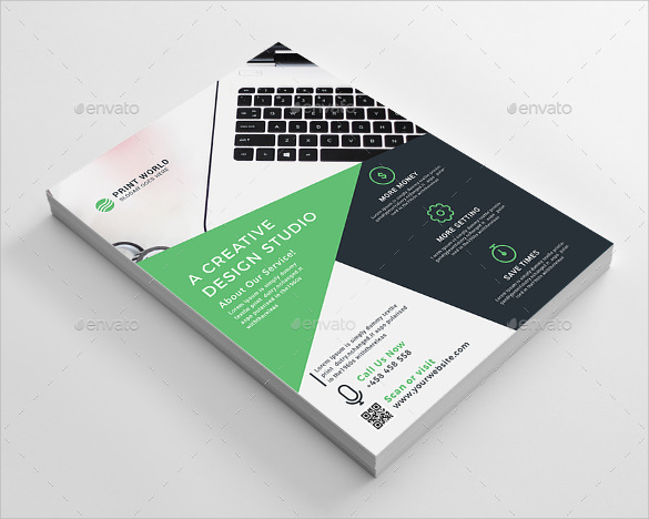 corporate flyer template psd format download