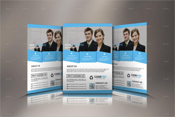 attractive corporate flyer template download