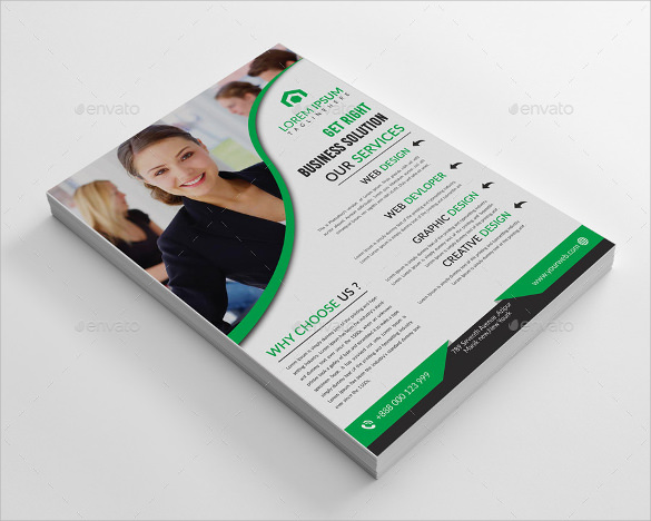 spectacular corporate flyer template download