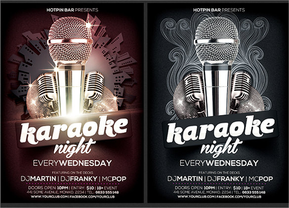 amazing karaoke night flyer template