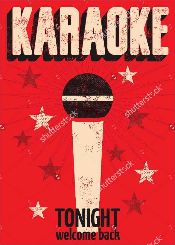 23  karaoke night flyer templates