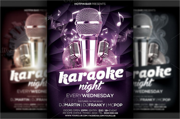remarkable karaoke night flyer template download