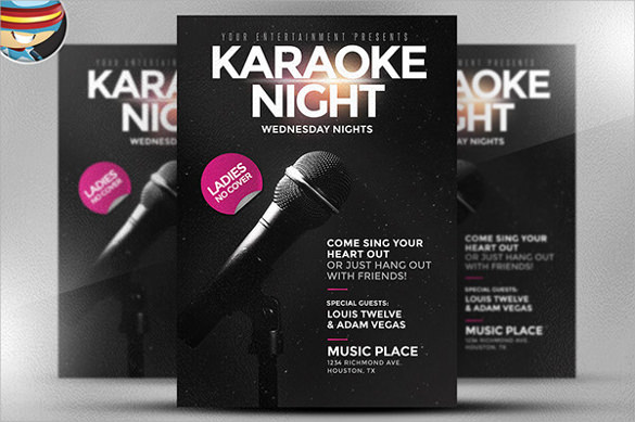 fantastic karaoke night flyer template